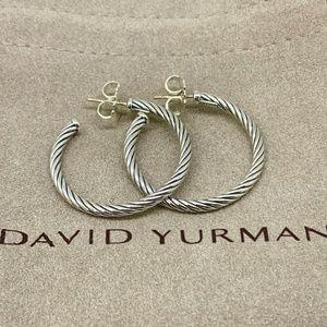 David Yurman Cablespira Hoop Earrings